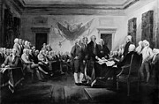 Declaration Of Independence Digital Art Posters - The Signing of the Declaration of Independence Poster by Digital Reproductions