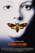 Horror Movie Prints - The Silence of the Lambs Poster Print by Sanely Great