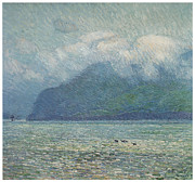 The Golden Gate Prints - The Silver Veil and the Golden gare Print by Childe Hassam