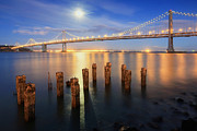 Colorful Photography Prints - The Silvery Moon Print by Aaron Reed