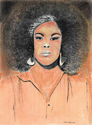 Afro Pastels Posters - The Singer Poster by David Jackson