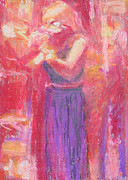 Singer Pastels Originals - The Singer by Marsha Wright