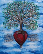 Tree Roots Paintings - The Singing Bird by Leandria Goodman
