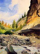 Wyoming Paintings - The Sinks by Todd Derr