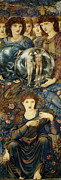 Dresses Prints - The Sixth Day Print by Edward Burne Jones