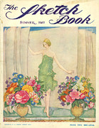 Books Drawings Posters - The Sketch Book 1925 1920s Uk Womens Poster by The Advertising Archives