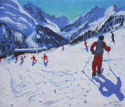 The Ski Instructor Print by Andrew Macara