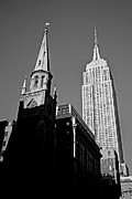 5th Ave Photos - The Skyscraper and the Steeple by Joann Vitali