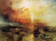 Slave Ship Posters - The Slave Ship 1840 Poster by Joseph Mallord William Turner