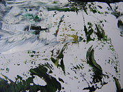 Snowscape Paintings - The Slope by Nancy Kane Chapman