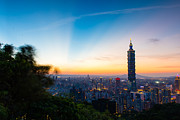 The Sky Of Taipei 101 Print by Dewa Wirabuwana