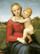 Raphael Prints - The Small Cowper Madonna Print by Raphael