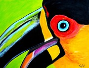 Claudia Tuli Metal Prints - The smiling Toucan Metal Print by Claudia Tuli