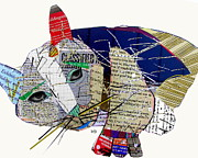 The Smitten Kitten  Print by Bri Buckley