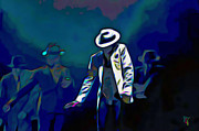 Michael Digital Art Originals - The Smooth Criminal by Byron Fli Walker