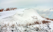 Winter Storm Metal Prints - The Snow Dunes Metal Print by JC Findley