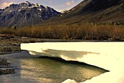 Snow Scenes Mixed Media - The Snow Melt in Alaska by Diane Strain