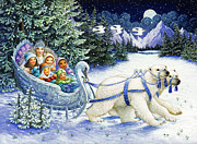 Polar Bears Paintings - The Snow Queen by Lynn Bywaters