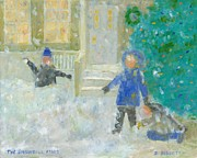 Snowball Paintings - The Snowball Fight by David Dossett