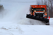 Paul Wash Art - The Snowplow Cometh by Paul Wash