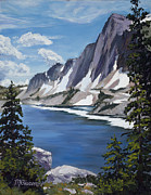 Nature Medicine Paintings - The Snowy Range by Mary Giacomini