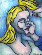 Surrealism Pastels Originals - The Softest Touch by Kamil Swiatek