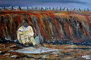 Ww1 Paintings - The Soldier by Adam Hickey