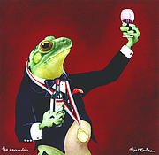 Humorous Framed Prints - The Sommelier... Framed Print by Will Bullas
