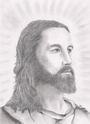 Christ Drawings - The Son by Stephen Brissette