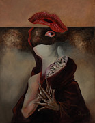 Soprano Painting Framed Prints - The Soprano Singer That Lost Her Voice Framed Print by Jorge Aramburu