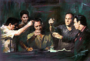 Christopher Drawings - The Sopranos by Viola El
