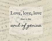 Sheet Music Digital Art - The Soul of Genius by Marianne Beukema
