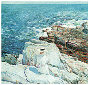 Hassam Framed Prints - The South Ledges Appledore Framed Print by Childe Hassam