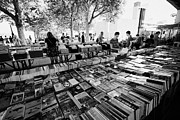 Antique Books Prints - the southbank centre book market London England UK Print by Joe Fox