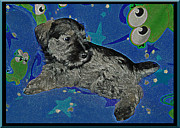 Schnauzer Puppy Digital Art - The Spacy Canine by Brian Graybill