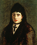 Choker Paintings - The Spaniard by Edouard Manet
