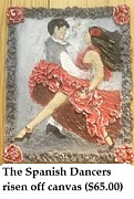 Featured Reliefs Originals - The Spanish Dancers  by Shay Kelley