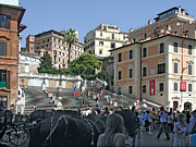 Harold Shull Metal Prints - The Spanish Steps Metal Print by Harold Shull
