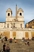 Front Steps Posters - The Spanish Steps Poster by Jim  Calarese