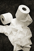 Clean Mixed Media Prints - The Spare Rolls 1 - Toilet Paper - Bathroom Design - Restroom - Powder Room Print by Andee Photography