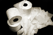 Paper Mixed Media - The Spare Rolls 2 - Toilet Paper - Bathroom Design - Restroom - Powder Room by Andee Photography