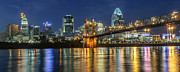 Cincinnati Prints - The Sparkle of the Queen City Print by At Lands End Photography