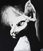 Sphynx Cat Paintings - The Sphynx by Leia Sopicki