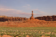 Desert Landscape Art - The Spindle - Valley of the Gods by Christine Till