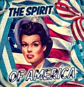 Flag Of Usa Prints - The Spirit of America Print by Mo T