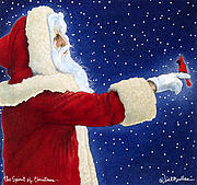 Santa Painting Metal Prints - The Spirit of Christmas... Metal Print by Will Bullas