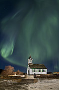 Northern Lights Framed Prints - The Spirit of Iceland Framed Print by Evelina Kremsdorf
