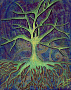 Tree Roots Digital Art Posters - The Spirit Tree Poster by Anna Marie Koonce