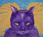 Furry Felines Painting Prints - The Spookster Print by Rhonda Leonard