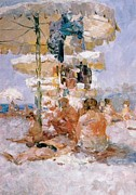 Impressionist Art Mixed Media - The Sport Harbour  Vladivostok Vintage Prints by Jake Hartz